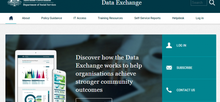 How is DSS Data Exchange helping the Community Services sector?